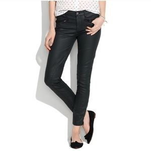 Madewell wax coated skinny jeans